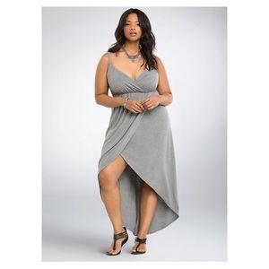 NWT Torrid Hi Lo Surplice Knit Maxi Dress Size 2